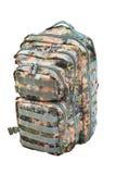 Camouflage backpack isolated Stock Image