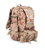 Camouflage backpack Stock Photography