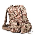 Camouflage backpack Stock Images