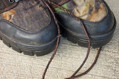 Camouflage Boots Stock Photography
