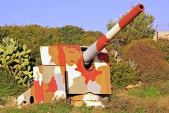 Camouflage cannon Royalty Free Stock Photos