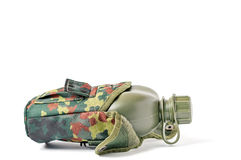 Camouflage Canteen Royalty Free Stock Photo