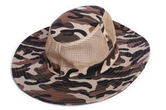Camouflage cap chapeau dicer hat headgear Royalty Free Stock Photos
