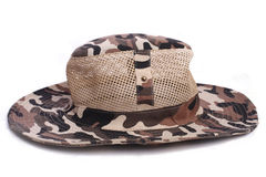 Camouflage cap chapeau dicer hat headgear Royalty Free Stock Image