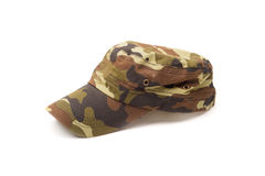 Camouflage cap isolated on white Stock Photography