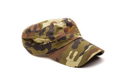 Camouflage cap isolated on white Royalty Free Stock Image