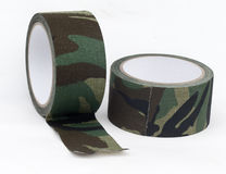 Camouflage cloth tape Stock Images
