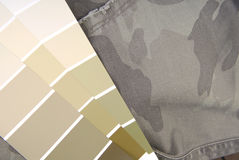 Camouflage color chart for interior Royalty Free Stock Images