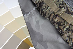 Camouflage color chart for interior design Royalty Free Stock Photo