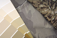 Camouflage color chart for interior design Royalty Free Stock Photos
