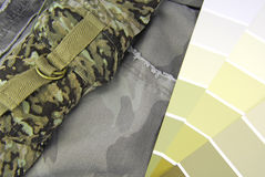 Camouflage color chart for interior design Royalty Free Stock Photography