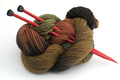 Camouflage colored yarn  Royalty Free Stock Photos