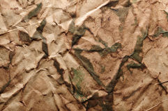 Camouflage creased texture Stock Photos