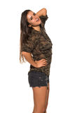 Camouflage and denim Stock Image