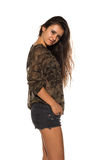 Camouflage and denim Royalty Free Stock Photography