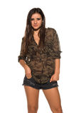 Camouflage and denim Royalty Free Stock Photos