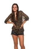 Camouflage and denim Stock Photo