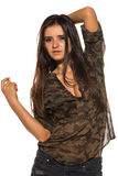 Camouflage and denim Royalty Free Stock Photo