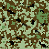 Camouflage digital pattern-color design Royalty Free Stock Images