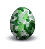 Camouflage on egg. Military army camouflage on egg Stock Photography