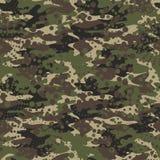 Camouflage en halftone naadloze patroonachtergrond, maskerclothi vector illustratie