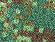 Camouflage fabric, closeup Royalty Free Stock Images