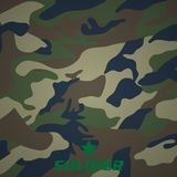 Camouflage fabric pattern shape Royalty Free Stock Image