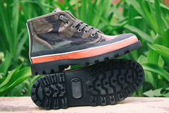 Camouflage fashion shoes Royalty Free Stock Photos
