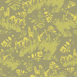 Camouflage floral seamless pattern Royalty Free Stock Photography
