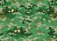Camouflage forest eyes. Royalty Free Stock Images