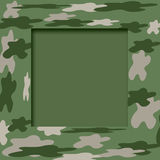 Camouflage frame Stock Photo
