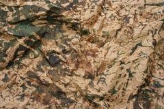 Camouflage gevouwen document Royalty-vrije Stock Afbeelding