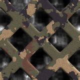 Camouflage grate Royalty Free Stock Photos