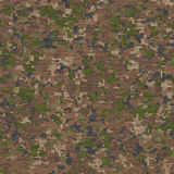 Camouflage in Green and Beige. Seamless Texture. Stock Photo
