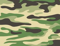 Camouflage Green Print Royalty Free Stock Photo
