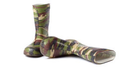 Camouflage Gum Boots Stock Image