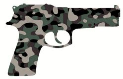 Camouflage gun royalty free stock photography