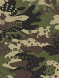 Camouflage and halftone pattern background, mask clothing print. Stock Images