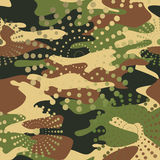 Camouflage and halftone pattern background seamless, mask clothi Stock Photos
