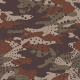 Camouflage and halftone pattern background seamless, mask clothi Stock Photo