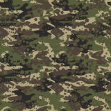 Camouflage and halftone pattern background seamless, mask clothi Stock Images