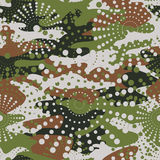 Camouflage and halftone pattern background seamless, mask clothi Royalty Free Stock Photos