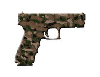 Camouflage Handgun Stock Images