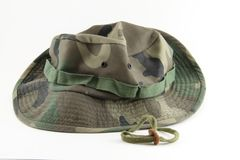 Camouflage hat Stock Images