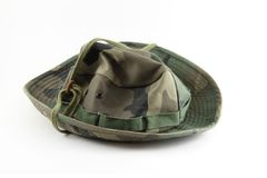 Camouflage hat Royalty Free Stock Images