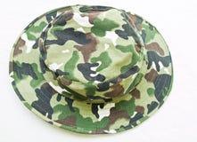 Camouflage hat isolated on white background Royalty Free Stock Photos