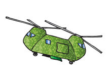 Camouflage helicopter Stock Photography