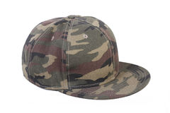 Camouflage hip-hop rap cap Stock Photos