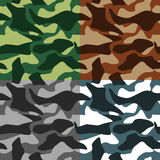 Camouflage Icons Set Royalty Free Stock Photo