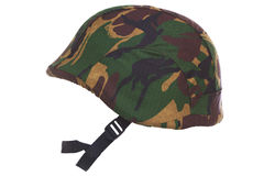 Camouflage kevlar helmet cut out Royalty Free Stock Photo